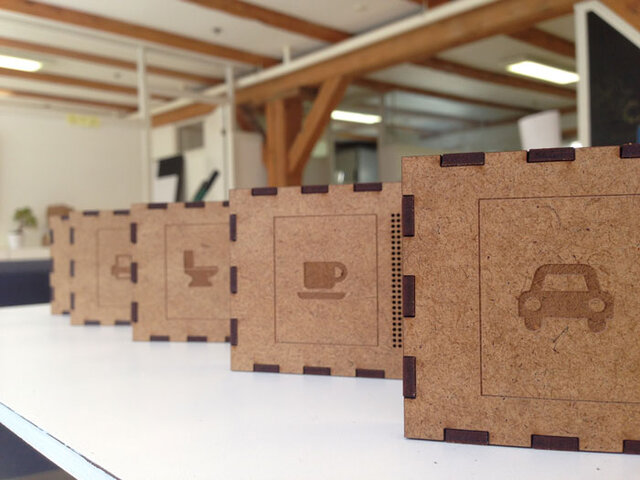 Estimer Prototypes with Laser Cut Case