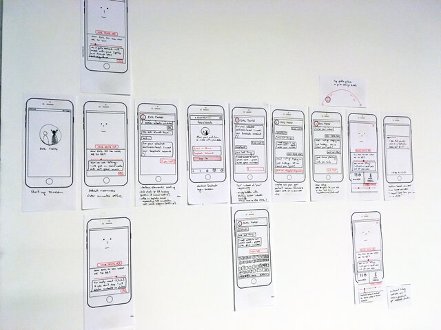 User Journey of Evil Twin App Design