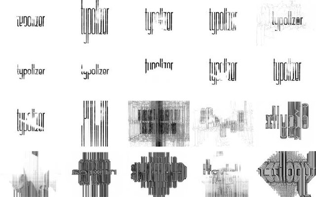 Typolizer's Experimental Typography Output